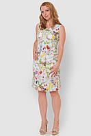 Льняное, легкое женское платье больших размеров прилегающего силуэта 15001/4, фото 1