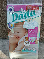 Детские подгузники DADA Premium Extra Soft 3 Midi 4-9 кг 64 шт. flex system