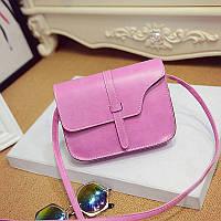 Женская сумка клатч сиреневого цвета