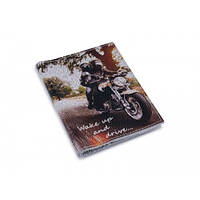 Обложка на автодокументы кожа -Bike documents-