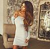 Женское Платье  голые плечи р. 42,44,46 - 7 цветов