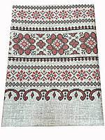 Скатерть в украинском стиле 150-180 см серого цвета