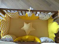 Подушечки - бортики фигурные для детской кроватки