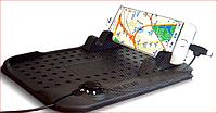 Антискользящий силиконовый коврик на торпедо с шнуром для зарядки H-CT 03