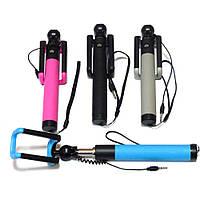 Monopod Selfie D12s c проводным соединением (цвета в ассортименте), палка для селфи, штатив для смартфона, фото 1