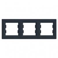 Рамка 3-я антрацит горизонтальная EPH5800371