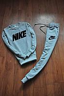 Стильный спортивный костюм трикотажный Nike серый
