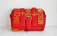 Женская сумка Moschino красная