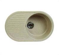 Кухонная мойка мрамор композит Fosto 74x46