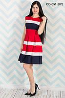 Красивое платье-миди в ретро-стиле 42-44 (в расцветках)