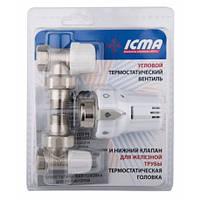 Icma Термостатический комплект угловой