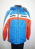 Куртка двухсторонняя демисезонная для мальчика 6-10 лет. Цвет - синий