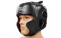 Шлем боксерский в мексиканском стиле кожа EVERLAST (черный)