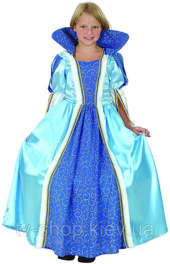 Платье КОРОЛЕВА в голубом