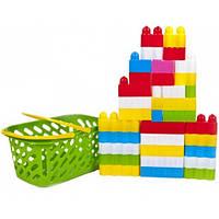 Конструктор детский, 34 детали в корзинке 02-307 Kinder Way