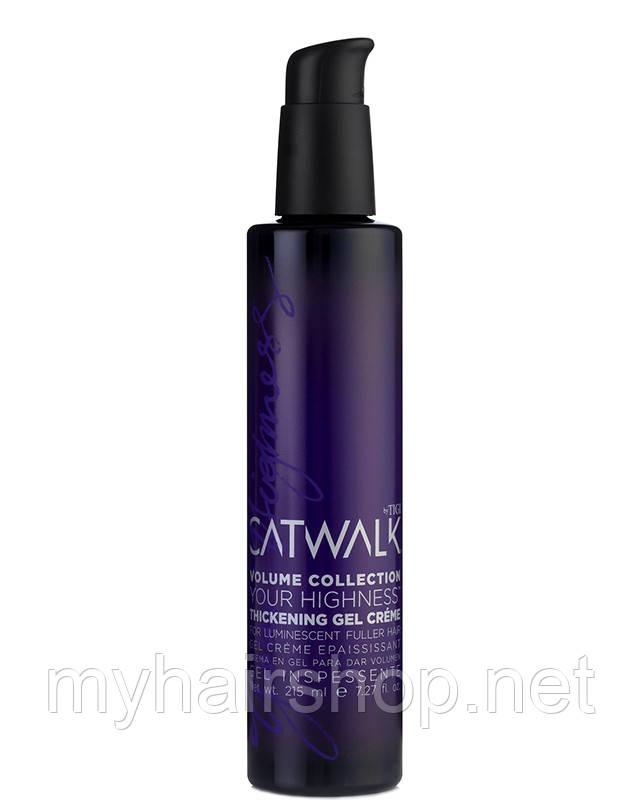 Гель-крем для укладки и текстуры волос Tigi Catwalk Your Highness Thickening Gel Creme 215мл