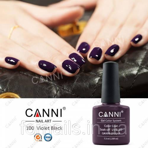 Гель-лак Canni 100 темно-коричневый