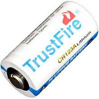 Батарейка литиевая Li-Ion CR123A / 16340 3V TrustFire (1400mAh) (8-1075)