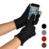 Перчатки женские черного,бордового цвета (для работы на смартфоне)