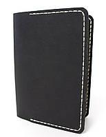Обложка для паспорта ручной работы VOILE pc1-blk-beg