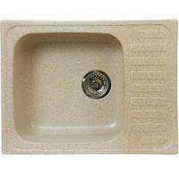 Кухонная мойка мрамор композит Fosto 64x49
