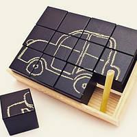 Развивающие кубики для рисования из натурального материала