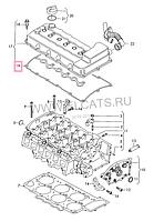 Прокладка клапанной крышки на Volkswagen Toureg.Код:71-37556-00