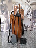 Каминный набор Lara + подставка Nidac коричневый