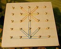 Развивающая игра математический планшет из натурального дерева