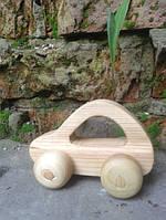 Развивающая игрушка машинка седан из натурального дерева в мешочке