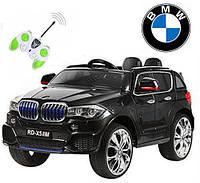 Детский лицензионный электромобиль с мягкими колесами BMW X5 new, M 2762 EBR-2 (MP4) черный