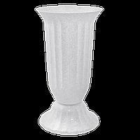 Алеана Ваза для цветов Флора 38 (белый флок)