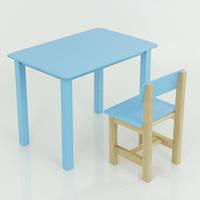 Дитячий стіл зі стільцем, синій, фото 1