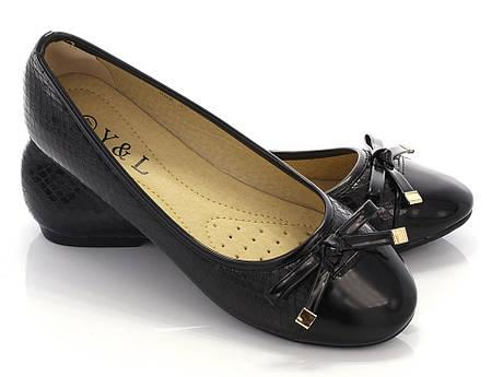 Женские балетки звездочка черный
