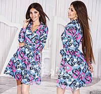 Джинсовое платье на пуговицах