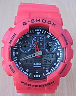Часы Casio(Касио) G-Shock GA100 красные