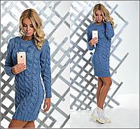 Платье-туника вязка Косичка