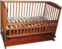 Кроватка-колыбель Twins с ящиком откидной бортик тик