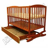 Кроватка-колыбель Twins с ящиком тик