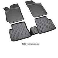 Комплект ковриков в салон Audi Q3, 2011, резиновые, черные, 4 шт, Petex