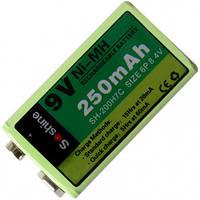Аккумулятор никель-металлогидридный Ni-MH Крона (6F22) Soshine 8.4V (250mAh) (11-1024)
