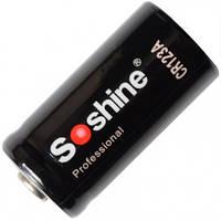 Батарейка литиевая Li-Ion CR123A / 16340 Soshine 3V (1600mAh) (11-1027)
