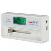 Зарядное устройство Soshine SC-S7 с LCD дисплеем (18650, 14500, 16340, CR2, CR123, AA, AAA) (11-1025