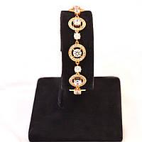 Золотой браслет с цирконием 83433