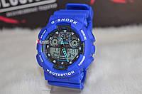 """Мужские спортивные часы """"Casio G-Shock ga-100"""" синие."""
