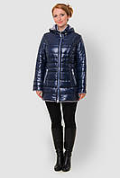 Зимняя теплая женская водоотталкивающая стеганая куртка со съемным капюшоном на синтепоне 90107