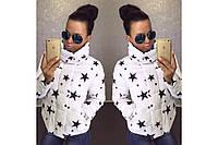 Женская куртка Звезда на синтепоне (150)- белая