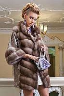 """Шуба из светлой куницы и каракульчи """"Ванда"""" marten fur coat jacket, фото 1"""