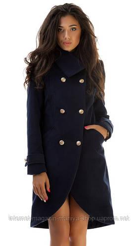 Пальто женское фрак на пуговицах