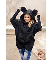Женская куртка   Летучая мышь с ушками р. S.M,L